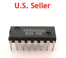 40162 (RCA CD40162BE):16-Pin CMOS DIP IC:Sync Programmable 4-Bit Decade Counter