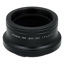 Fotodiox Pro Lens Mount Adapter M42 Screw Mount Lens to Sony NEX E-mount Mirr...