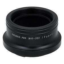 Fotodiox pro lens mount adapter M42 screw mount lens pour Sony NEX E-mount Mirr...