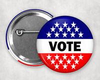 """VOTE 2.25"""" button pin"""