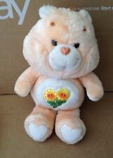 "Vintage Kenner Care Bears Friendship Orange Bear Yellow Flowers 13"" Plush"