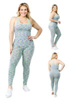 Women's Active Wear 2-Piece Set Plus Size (Top And Legging)