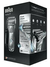 Braun Series 7 Smart Shaver Razor Wet Dry 7899cc Clean Charge Station Silver NEW