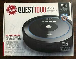 HOOVER QUEST 1000 Wi-Fi Enabled Robotic Vacuum Cleaner 360 Laser Mapping BH71000