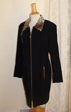 Howard Wolf - Sz 12 Elegant Faux-Fur Velvety Moleskin Dress or Long Jacket Coat