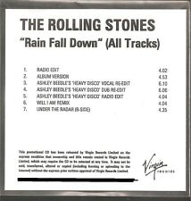 "ROLLING STONES ""Rain Fall Down (All Tracks) "" 7 Track UK Acetate Promo CD"