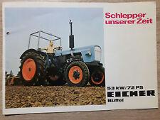 Original Eicher Prospekt Traktor Büffel