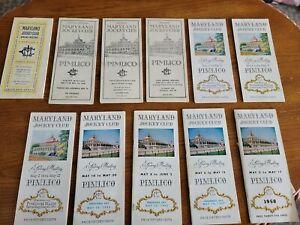 Maryland Jockey Club Preakness Program some programs have event tickets