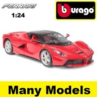 BBURAGO FERRARI RACE & PLAY 1:24 SCALE DIECAST MODEL CAR GIFT TOY MANY MODELS