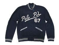 Polo Ralph Lauren Mens Navy Boathouse Baseball RL 67 Bomber Jacket Coat New