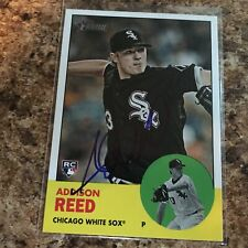 Addison Reed Signed 2012 Topps Heritage Auto Rc Chicago White Sox