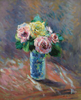Roses in Vase Gustave Caillebotte Wall Art Print Canvas Giclee Poster Small 8x10
