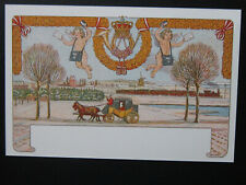 Denmark Christmas Stamp Newprint Postcard with 1905 christmas stamps on front