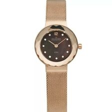 456SRR1 Leonora Brown Dial Rose Gold Tone Stainless Steel Strap Women's Watch