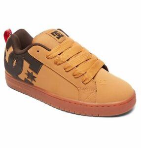 Mens DC Court Graffik SE Skateboarding Shoes NIB Wheat Turkish Coffee     (TTC)