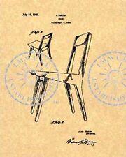 JENS RISOM CHAIR PATENT - Mid Century Modern 1945 #790