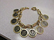 18K Gold Roman Coin Bracelet 8 inches Long with Old Roman Coins   Make Offer