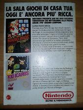 Pubblicità Advertising Werbung NINTENDO SUPER MARIO & KID ICARUS 1989