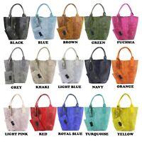 Vera Pelle Real Leather HandBag Womens Shoulder Bag Ladies Satchel Bag Shooper B