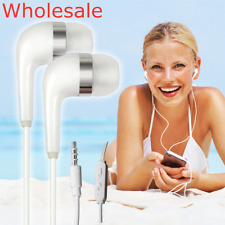 Universal 3.5MM Headphones Earbuds Earphones Wholesale for Samsung PC White