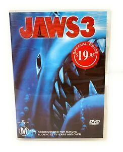 Jaws 3 (DVD 1983) Dennis Quaid Region 4 Free Postage