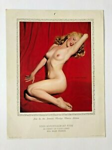 """MARILYN  MONROE  2 FAMOUS pictures """"golden dreams & lure  of  lace """"-1953 PIN-UP"""