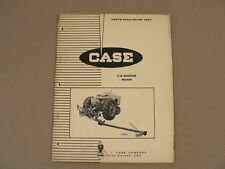 Case Tractors E10 Mounted Mower Service Repairs Parts Catalog List 1964 A809