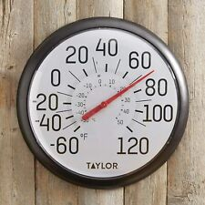 Taylor Precision Products 6700 Big & Bold Wall Thermometer, Black, Single Pack
