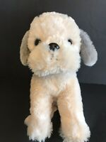 "stuffed animal plush dog puppy toy soft gray cute 10"" tall kellytoy"