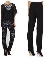 Bcbg Max Azria Chenille Sequin Pants L $248 IFB2F667 Black combo