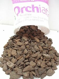"Orchiata New Zealand Orchid Bark - Extra Large 1"" Chips - 1 Gallon Bag"