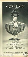 Publicité advertising 1966 Parfum Shalimar par Guerlain