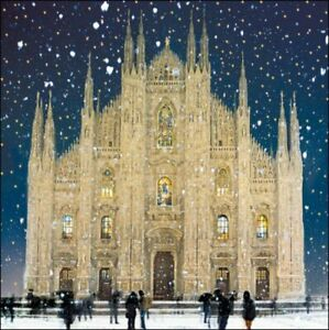 Charity Christmas Cards Pack Of 5 Milan Cathedral