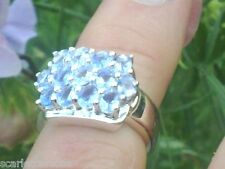 Silver Ring With 2.21ctw Genuine Tanzanites