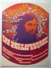 Roky Erickson 13Th Floor Elevators Signed 2014 Ice Cream Poster Mishka Westell