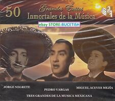 Jorge Negrete,Pedro Vargas,Miguel Aceves Media Box set 3CD New Nuevo sealed