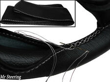 Para Riley nueve 26-38 Real Color Negro De Cuero cubierta del volante Bordado Blanco