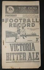 1946 Football Record Footscray vs Essendon Footy Record Home and Away