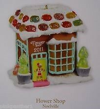 2011 Hallmark Flower Shop Ornament Noelville Series #6 Gingerbread New in Box