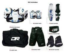 Youth medium hockey pants gloves shin elbow shoulder bag neck equipment set New