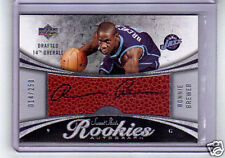 RONNIE BREWER RC AUTO 06-07 UD SWEET SHOT #/250 + JERSEY 06-07 TURKEY RED