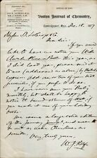 Shakespearean Scholar WILLIAM J. ROLFE Autograph Letter Signed - 1877