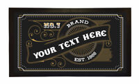 PERSONALISED BAR MAT CUSTOM RUNNER GIFT NOVELTY FUNNY BEER