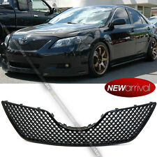 For: 07-09 Camry Honeycomb Glossy Black Bumper Hood 3D Mesh Grill Grill