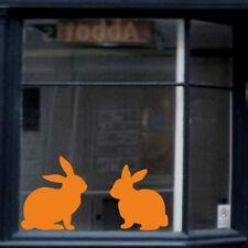 Easter Bunny Rabbit Wall Sticker Negozio Uovo Decorazione Da Finestra Decalcomania Adesivi in Vinile