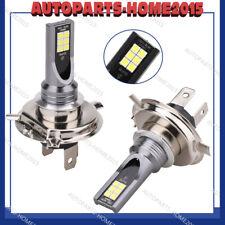 2X 200W H4 LED Voiture Phare Ampoule Feux Remplacement Xenon 6000K Blanc 3000LM