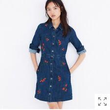 3952420f7c Nuevo con etiquetas MADEWELL Bordado Vestido De Tela De Flores Rojos Talla 4