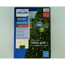 Philips 50ct Christmas LED varied sizes Smooth Sphere String Lights Warm White