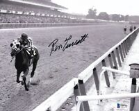 Ron Turcotte Signed 8x10 Secretariat 1973 Belmont Stakes Horse Racing Photo BAS