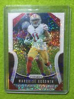 MARQUISE GOODWIN PRIZM WHITE SPARKLE CARD JERSEY #11 49ers /20 SSP 2019 Prizm SP